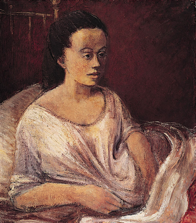 Young Woman in White Shift c.1955-58