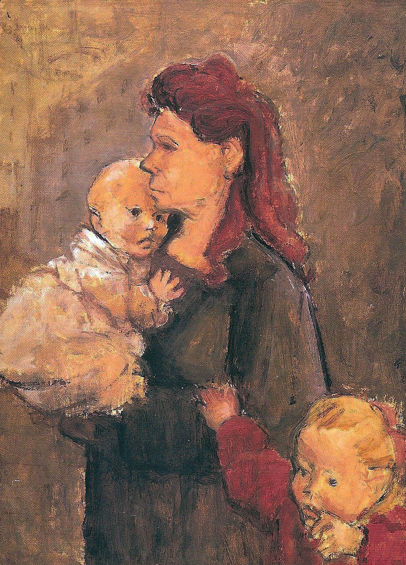 Woman with Two Children c. 1955