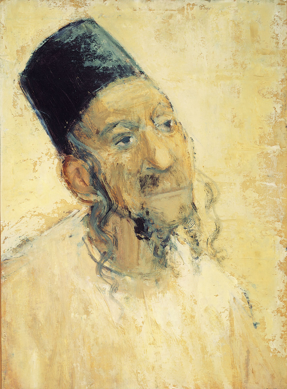 Middle Eastern Jew with Yellow Background c. 1958