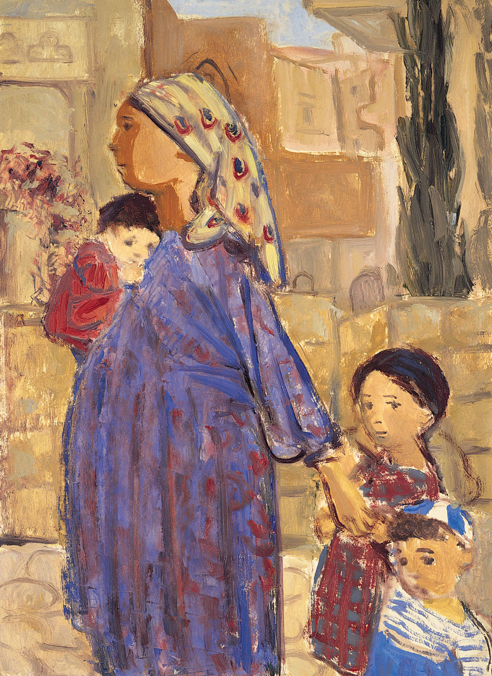 Woman with Three Children c. 1958